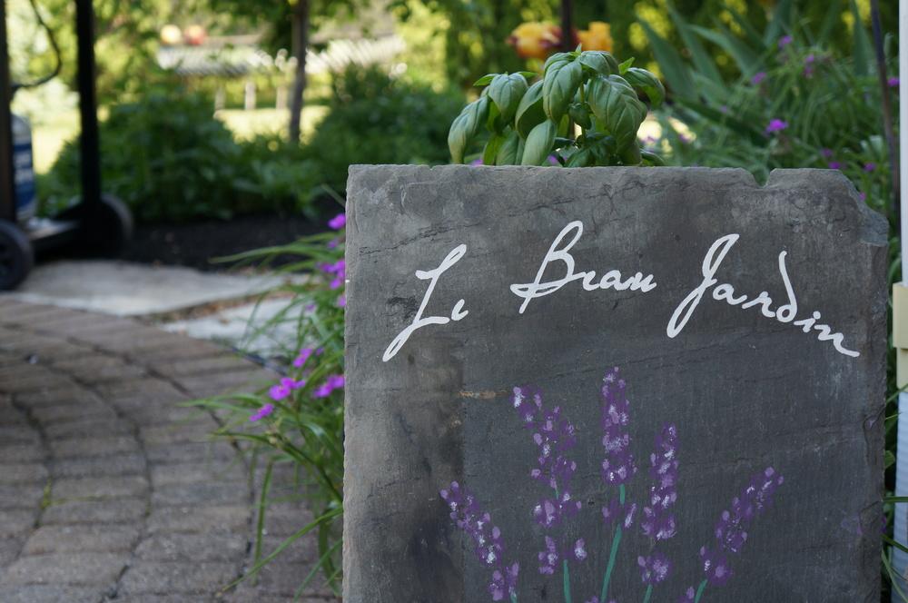 Slate Garden Sign