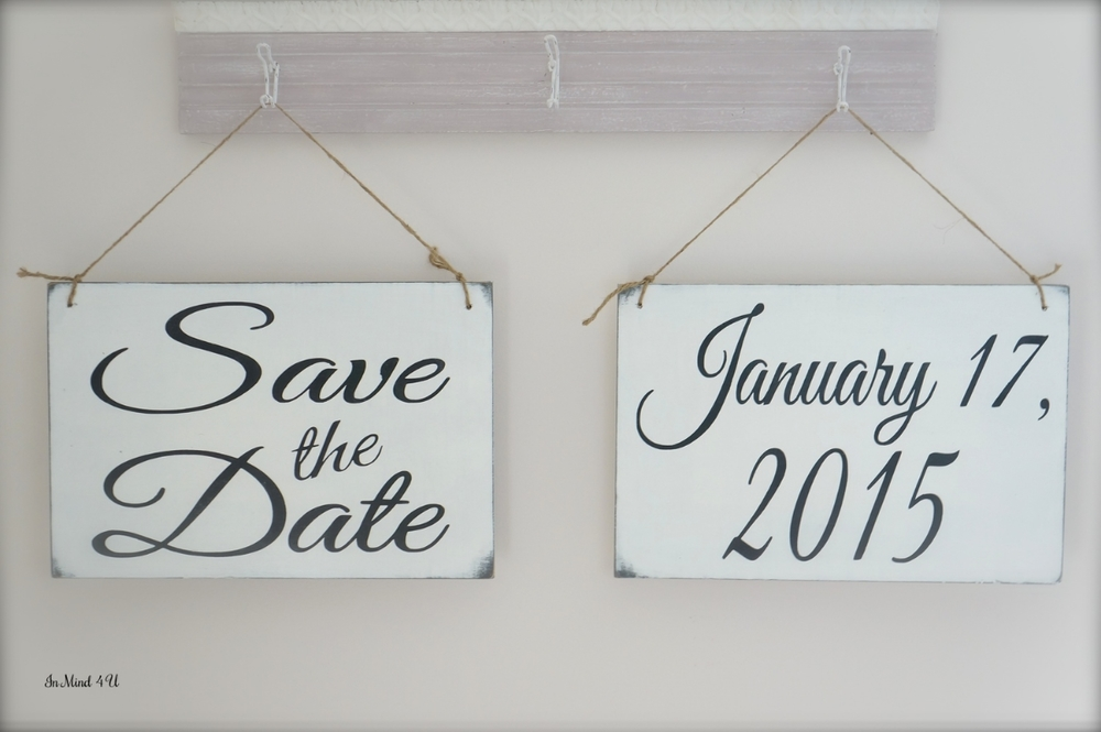 Save the Date Custom Signs by In Mind 4 U
