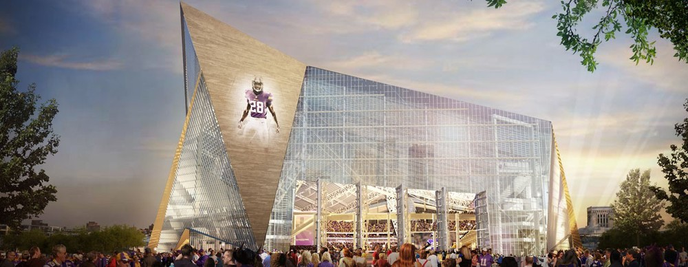 Image of the new stadium provided by HKS Architects.