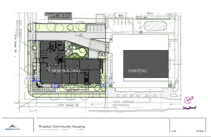 """Site plan in context to proximity of """"The Chateau"""""""