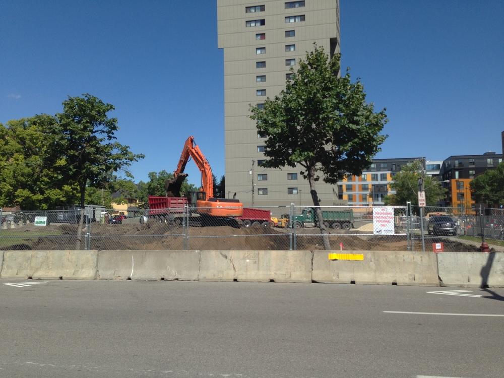 Excavation of ground in progress