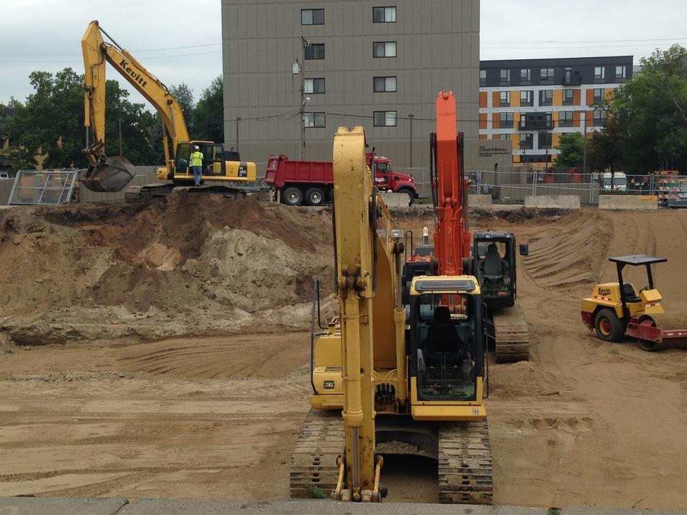Excavators on site
