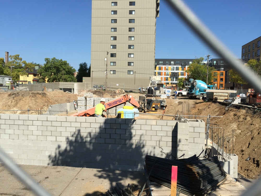 Lower foundation under construction