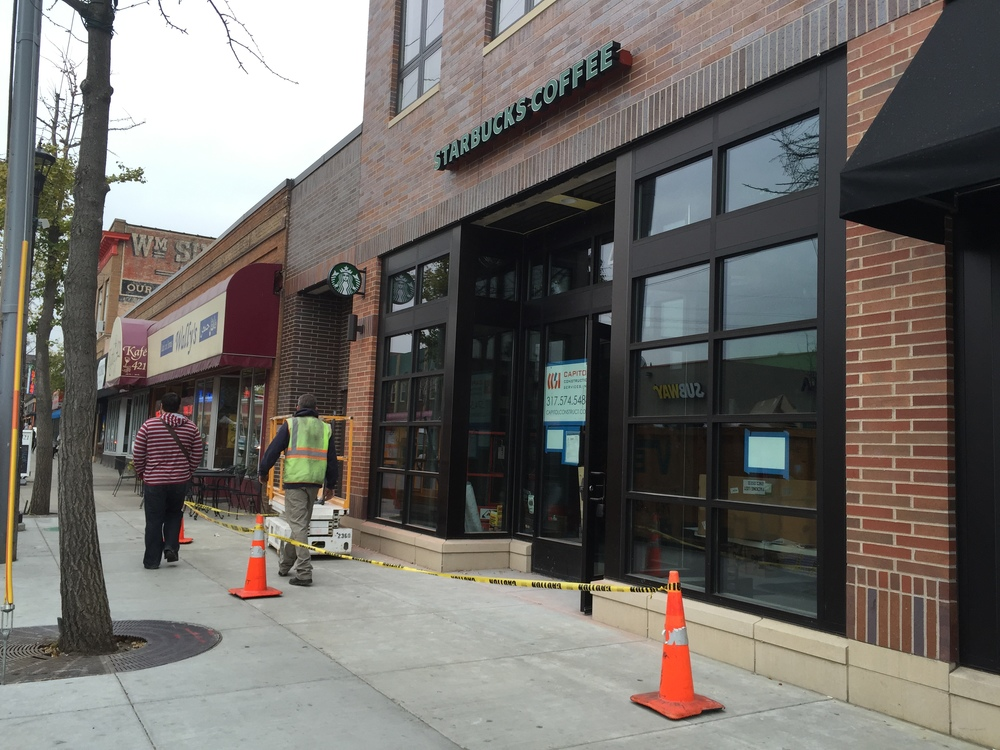 Above: Starbucks newest location in Dinkytown near the University of Minnesota campus.