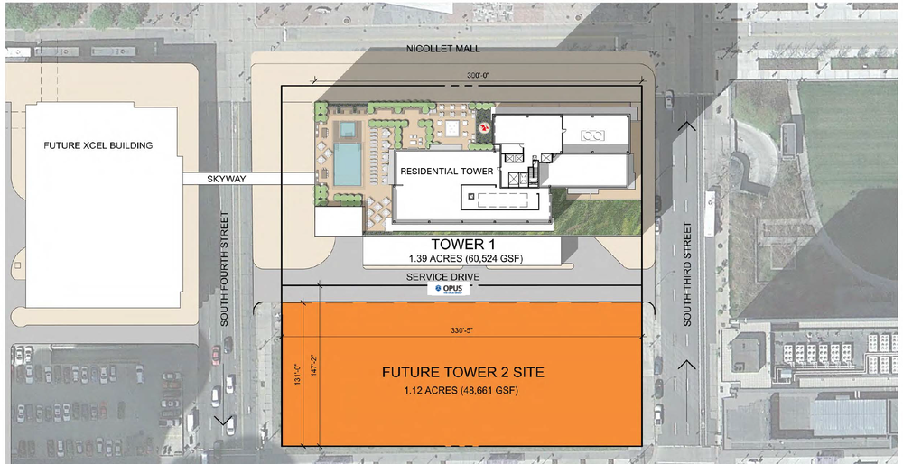 Site Plan for the proposed development occurring on the Ritz Block  |  City of Minneapolis