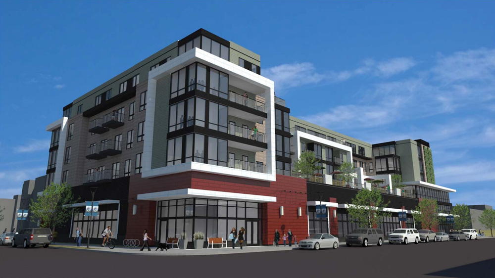 Rendering from the corner of 26th St and Lyndale Ave S  |  Minneapolis Planning Commission