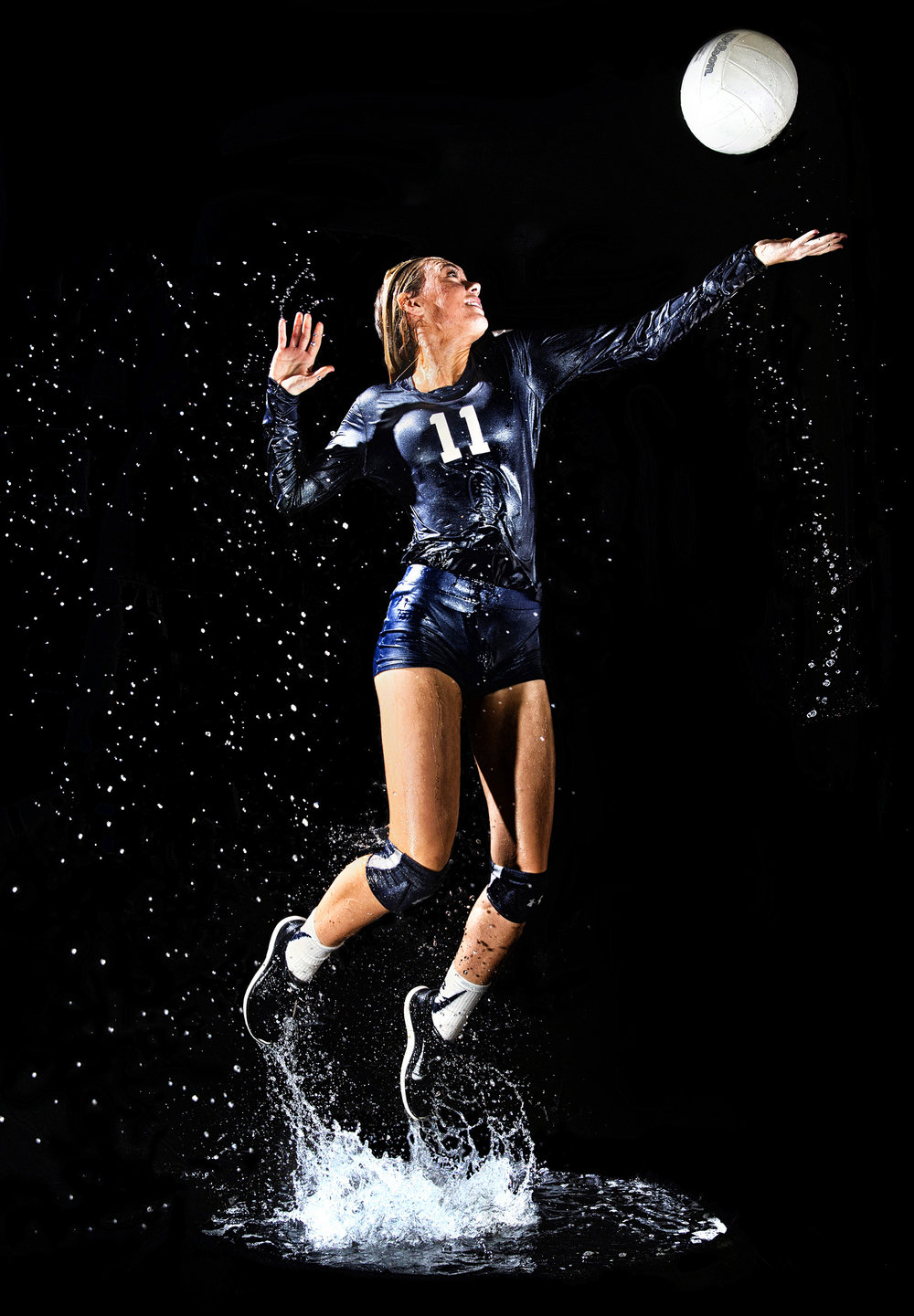 Chloe Gomez, of Lighthouse Christian School, poses for a portrait Friday, Nov. 3, 2017, in Twin Falls. Facility issues are one of the main reasons for canceling volleyball. If water is present of the floor, either because of condensation or tracked in by spectators, officials can cancel the game.