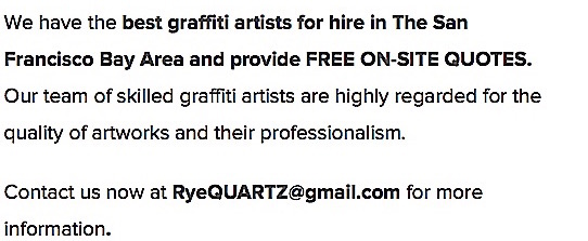 Commission Graffiti Artist for Hire San Francisco 2