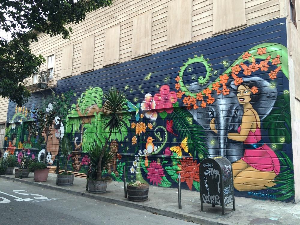 Amanda Lynn Graffiti Mural San Francisco