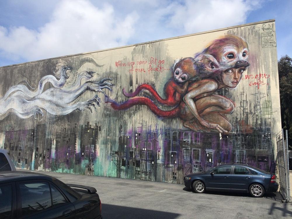 Herakut Mural San Francisco
