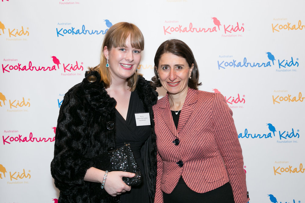 Rose in 2017 at NSW Parliament House with Premier Gladys Berejiklian.