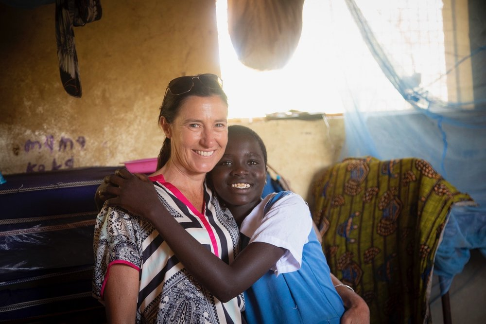Keri on the ground in Pokot in 2018, with ????, who will benefit from the Education Collaborative and hopefully get the education she so passionately wants and deserves.