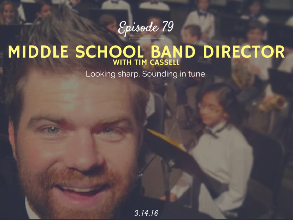 What is it like to be a middle school band director interview