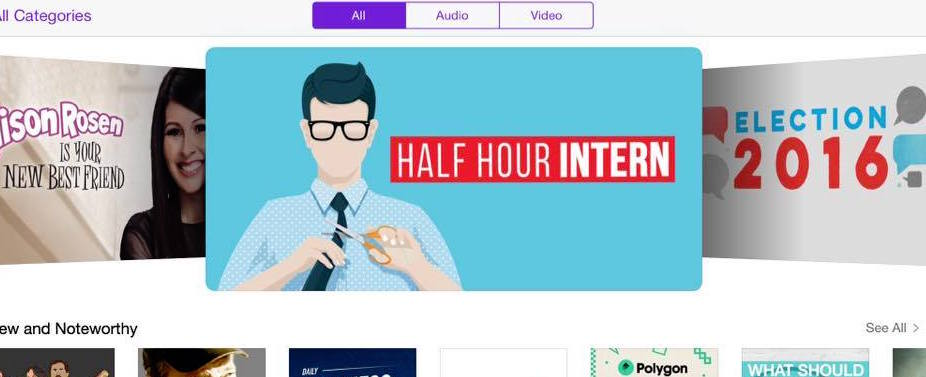 half hour intern weekly featured podcast on itunes