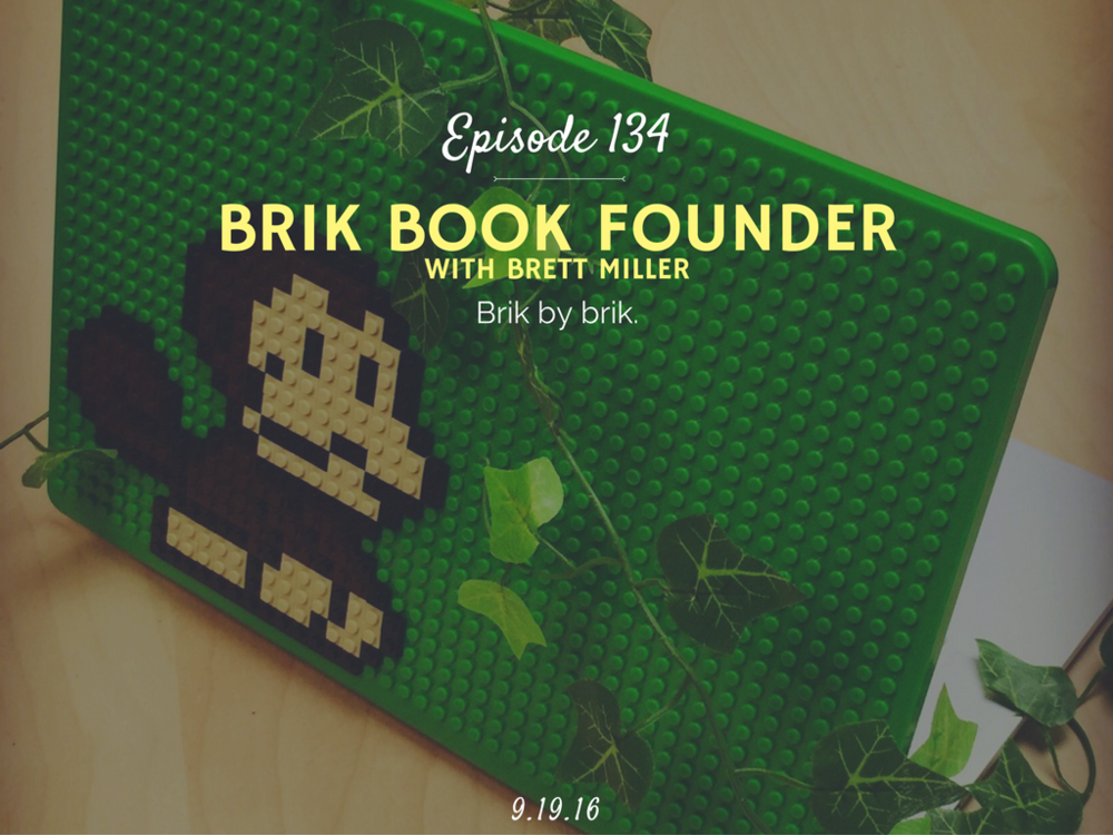 podcast interview with brik book founder brett miller
