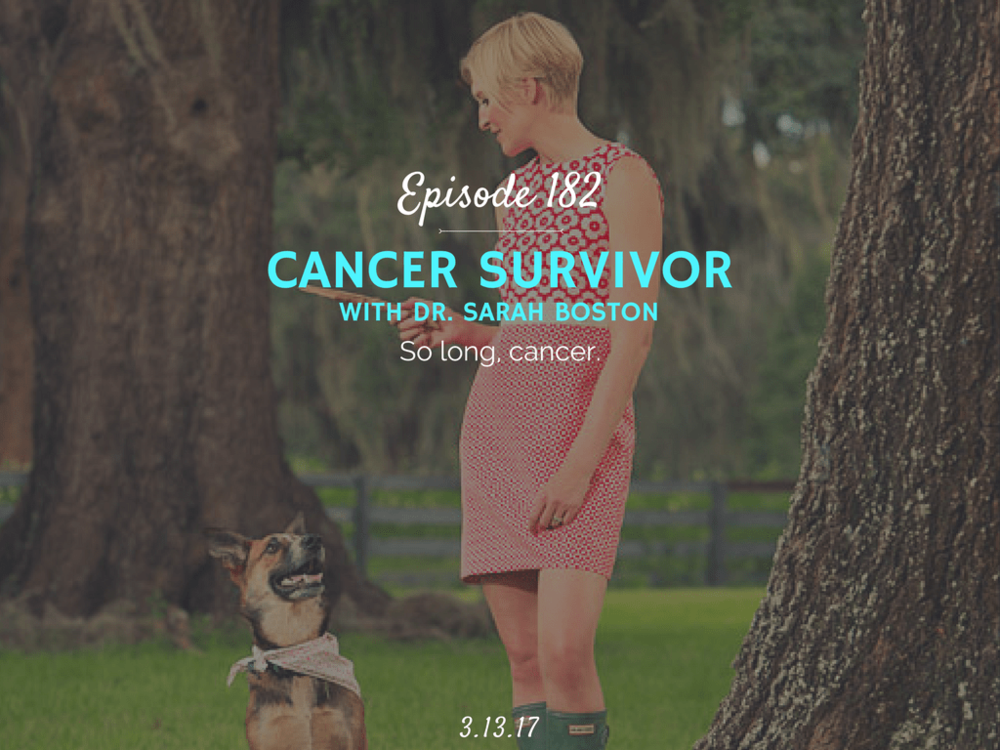 what is it like to get diagnosed with cancer podcast interview with dr. sarah boston