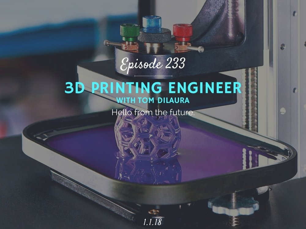 How 3D printing works podcast interview with Tom DiLaura