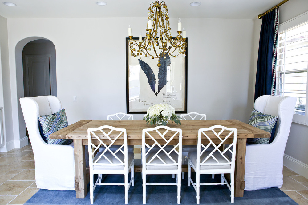 A Glamorous dining room in navy white and gold STUDIO  : StudioMcGeeDiningRoom4 from www.studio-mcgee.com size 1000 x 667 jpeg 223kB