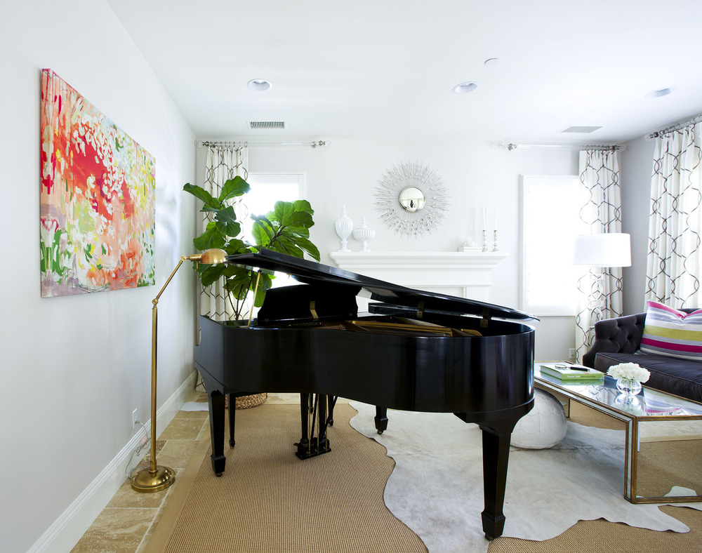 Glamorous Piano Room Makeover