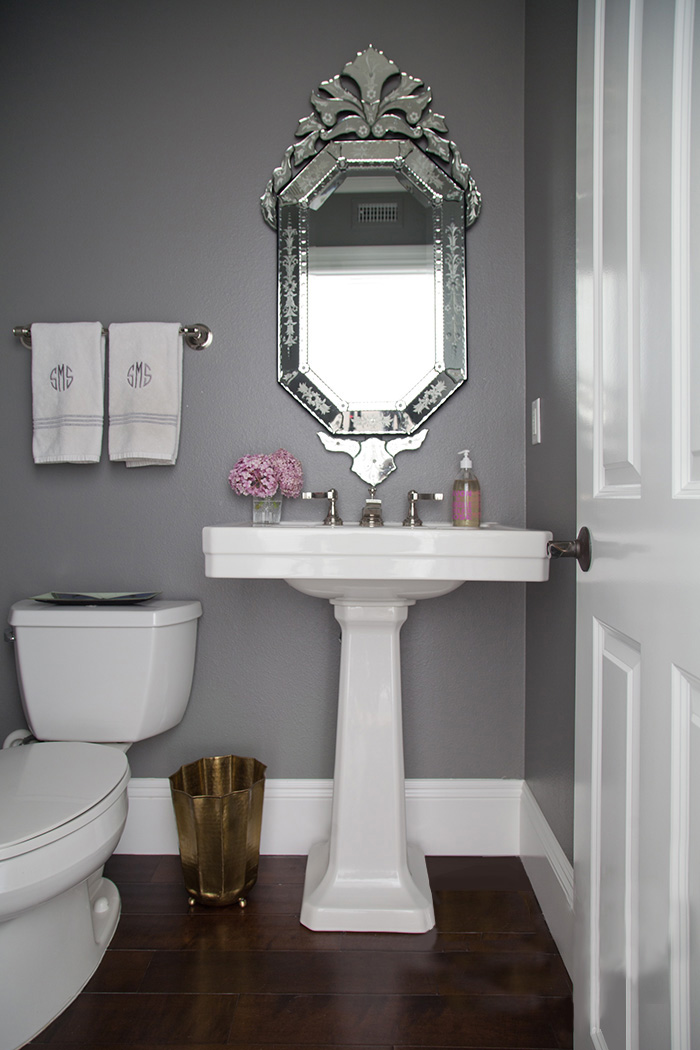 Ask studio mcgee gray paint studio mcgee for Small bathroom paint colors