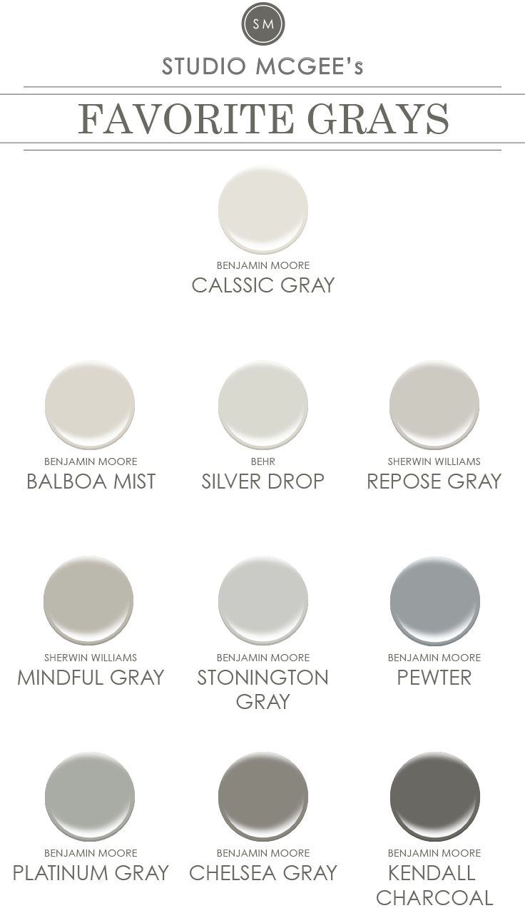 Ask studio mcgee gray paint studio mcgee for Grey white paint colors