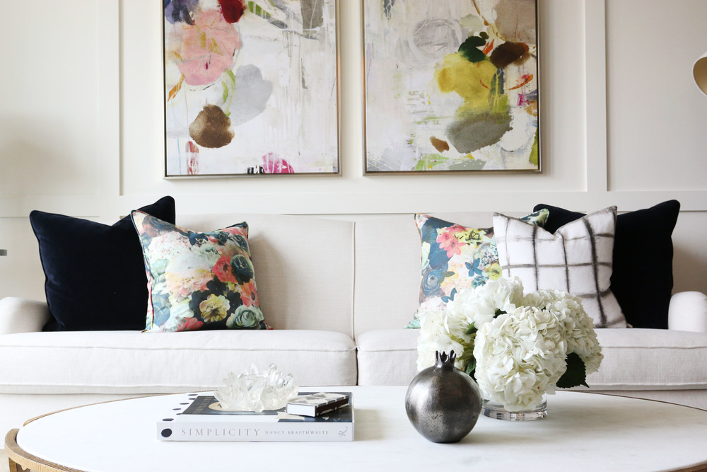 Abstract Art + Pillows || Studio McGee