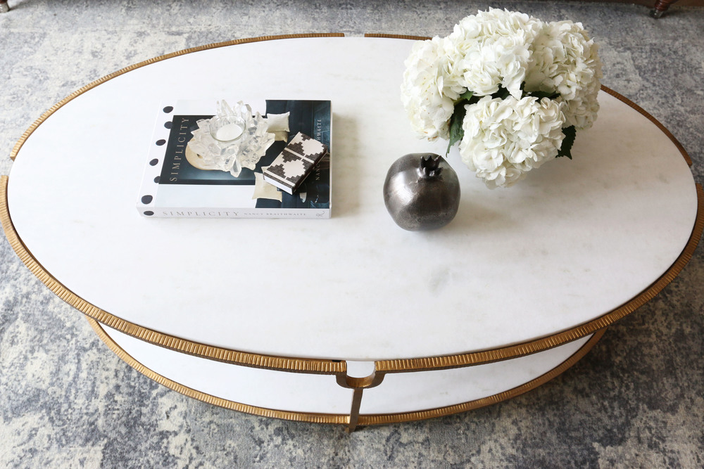 Marble and Gold Coffee Table || Studio McGee