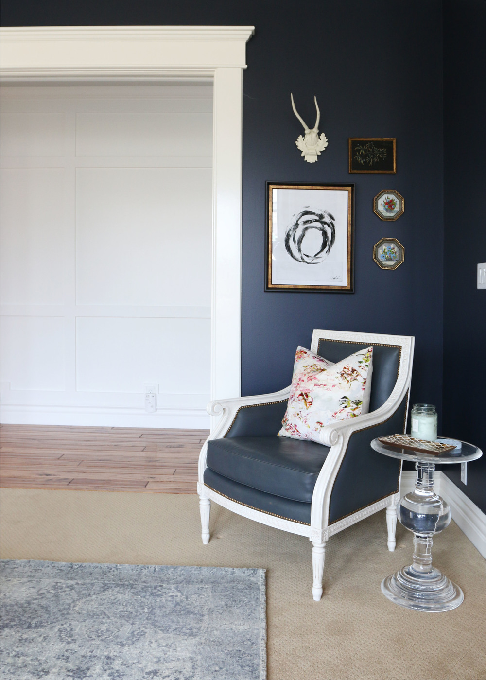 """Hale Navy"" walls and eclectic art 