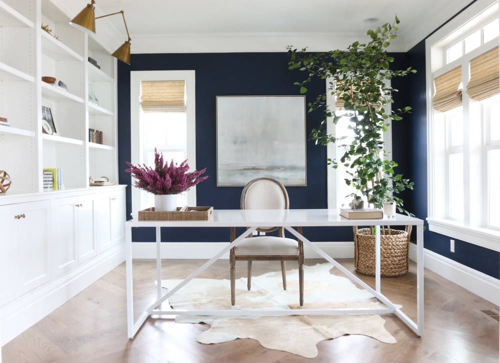 "Benjamin Moore ""Deep Royal"" Office 