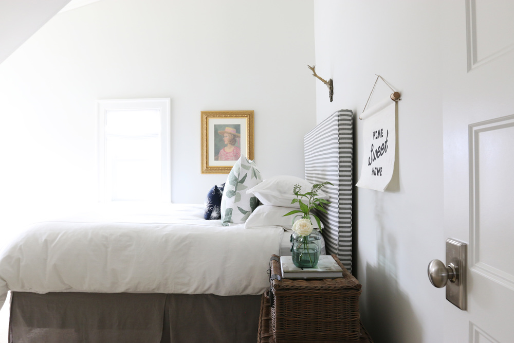 The Midway House  Classic Gray Guest Bedroom     STUDIO MCGEE