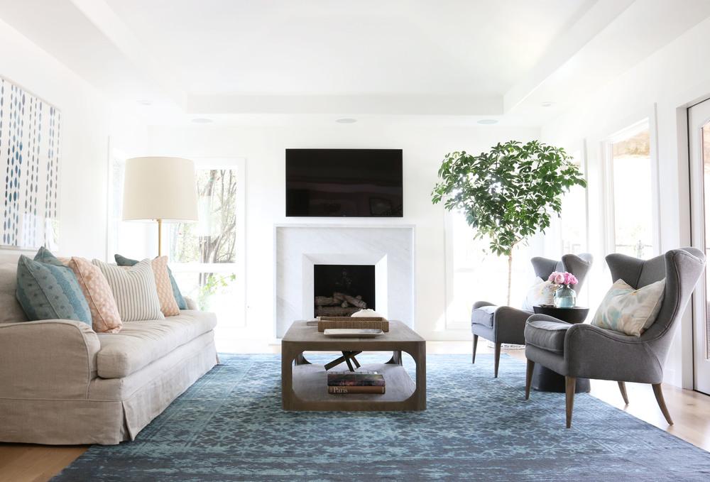 Marble fireplace surround || Studio McGee