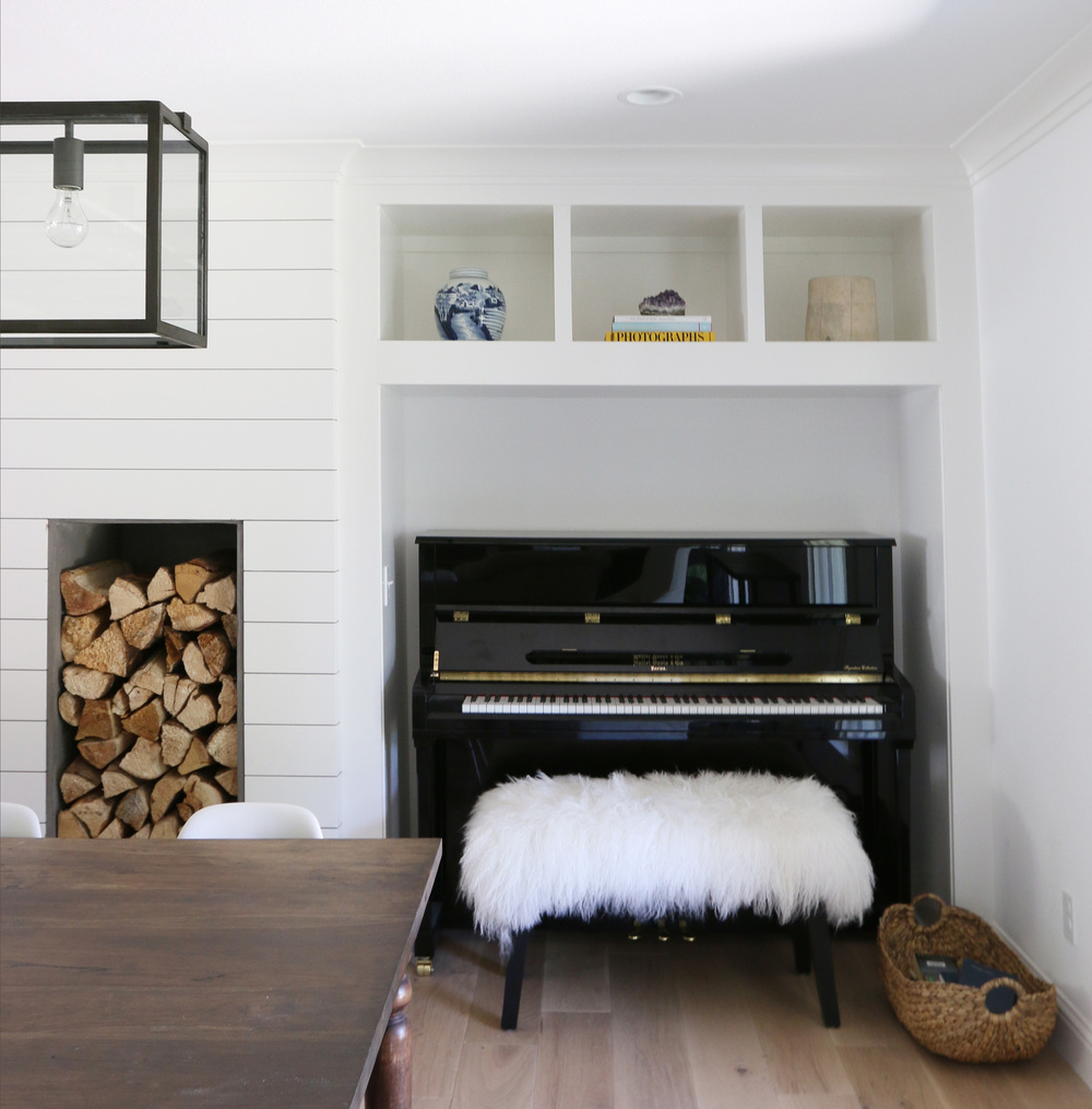 Built-in piano nook || Studio McGee