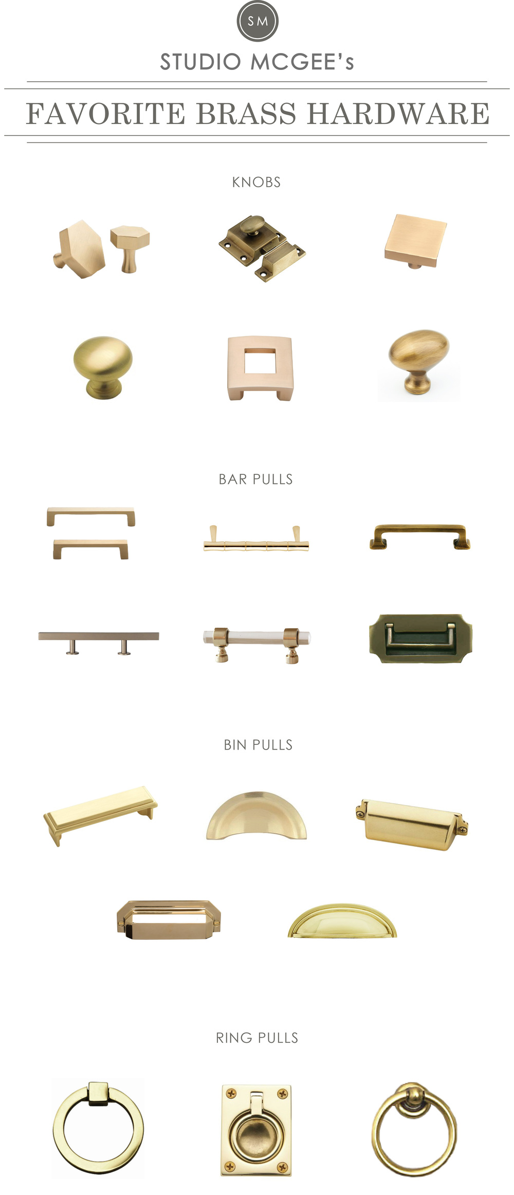A Roundup Of Studio McGeeu0027s Favorite Brass Hardware