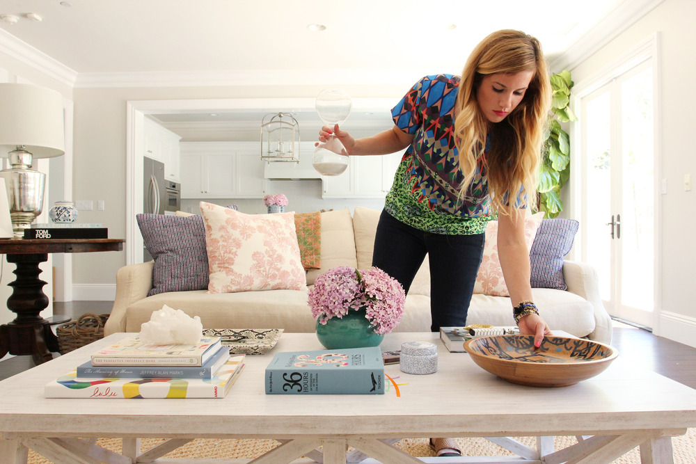 How To Style A Coffee Table how to style a coffee table — studio mcgee