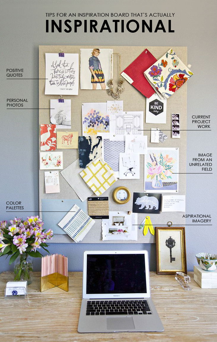 Tips for creating an inspiration board that s actually inspirational