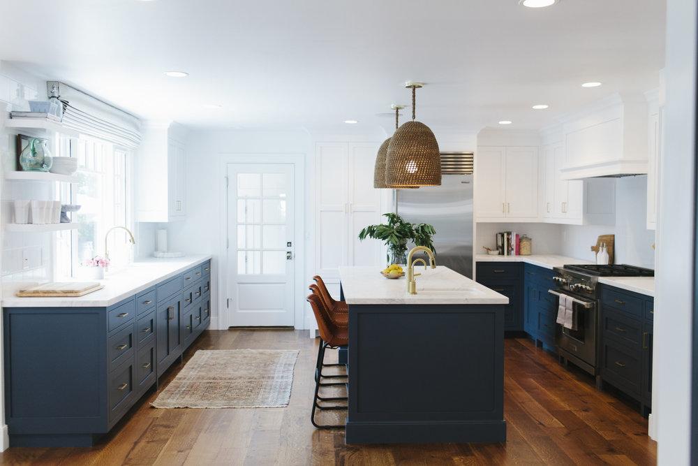 Navy, white & brass kitchen | Studio McGee
