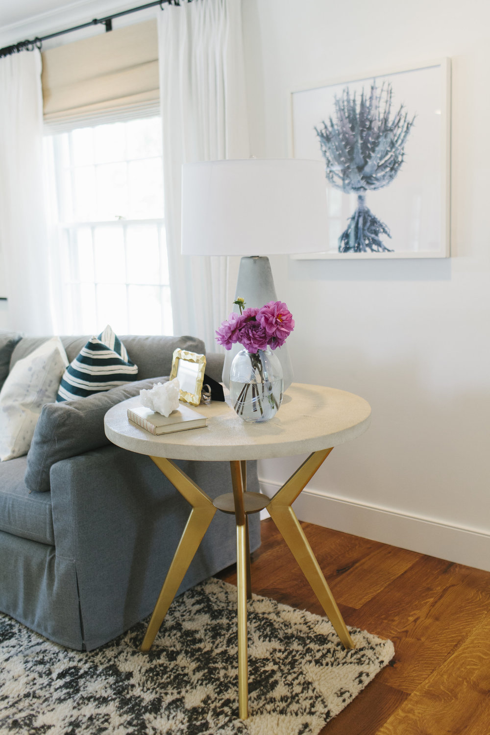 Brass side table | Studio McGee