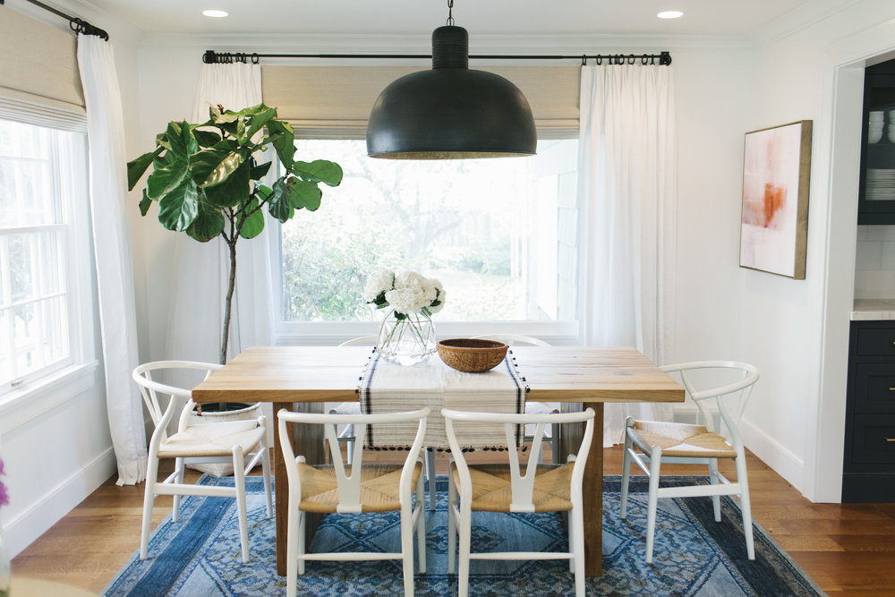 Wishbone chairs and natural table | Studio McGee
