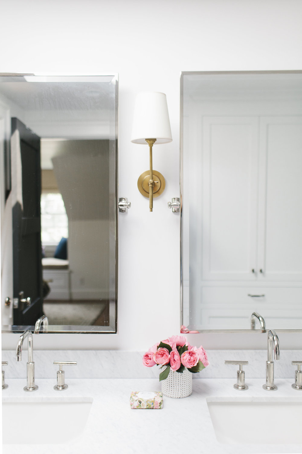 Brass sconces || Studio McGee