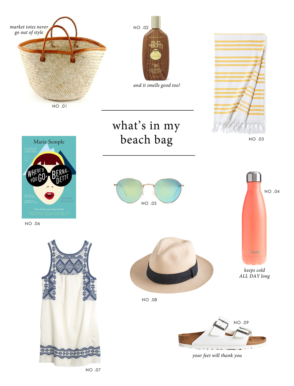 What's In My Beach Bag by Studio McGee