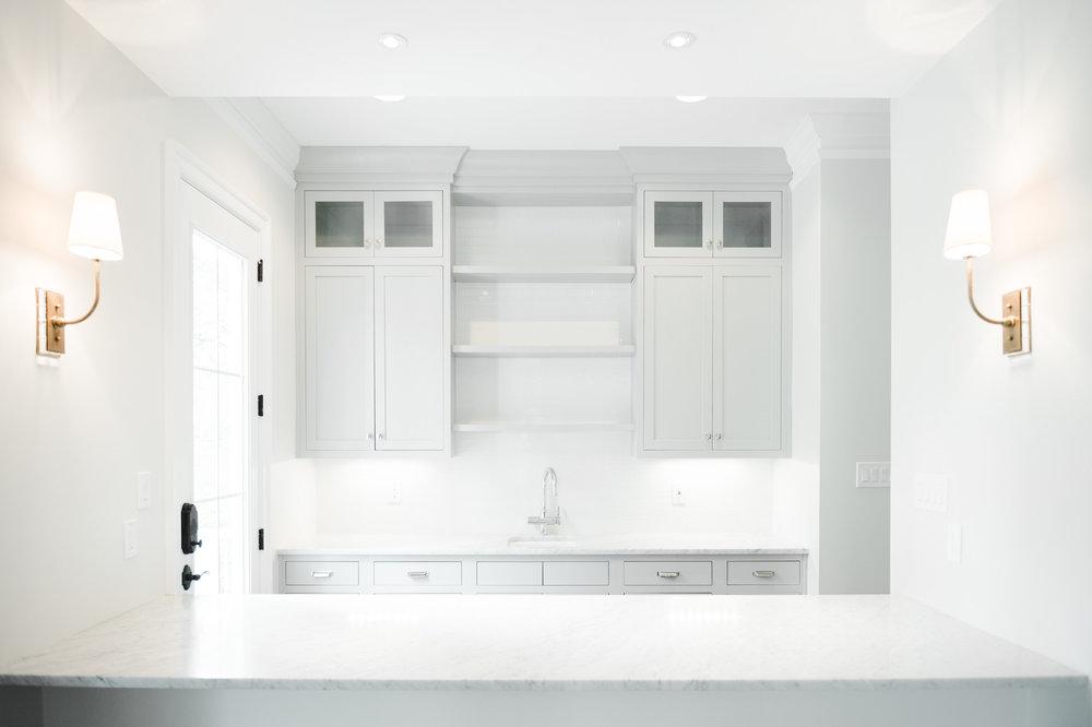 Light gray butler's pantry    Studio McGee