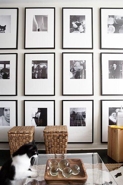 make it modern black white frames studio mcgee