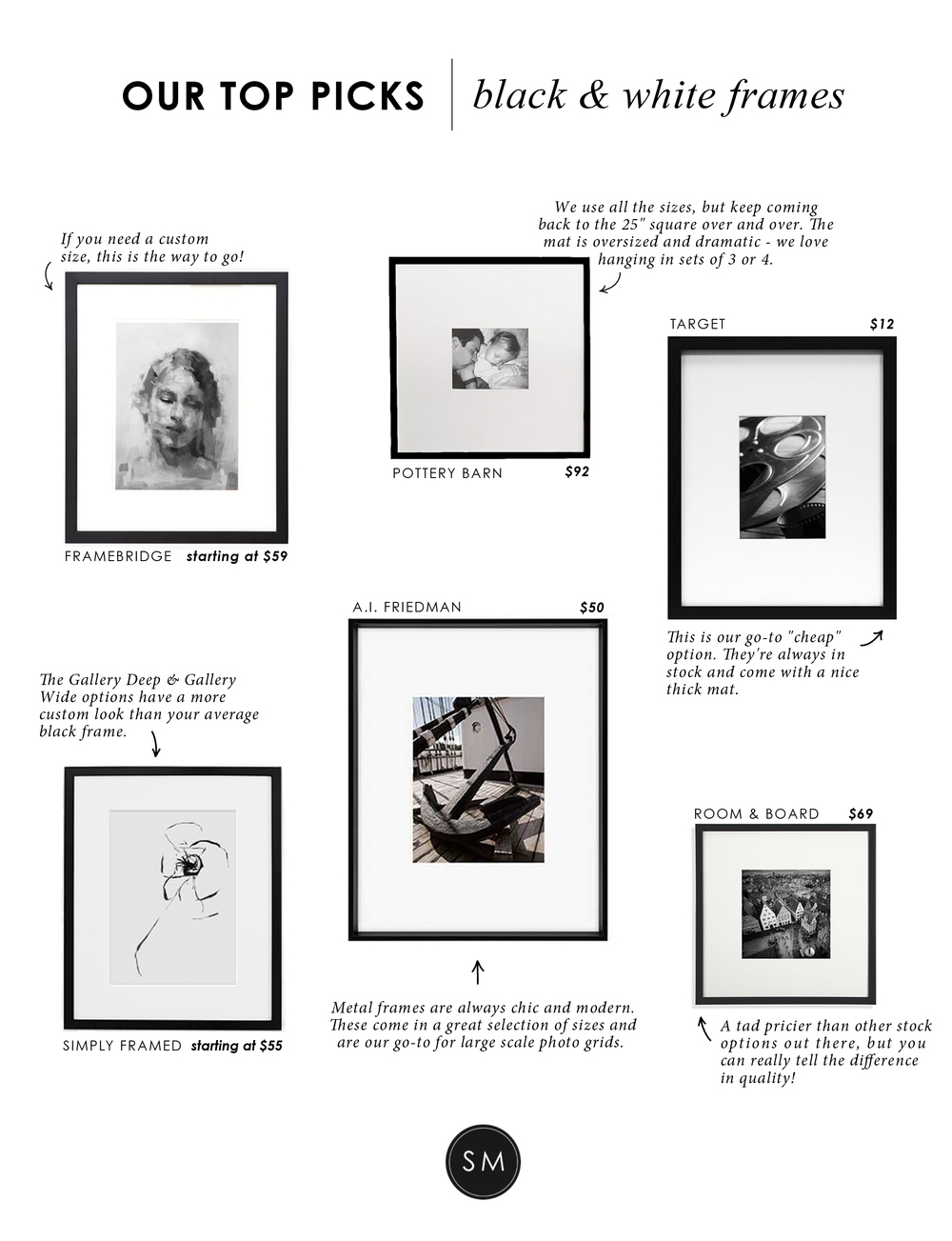 Make it Modern: Black & White Frames || Studio McGee