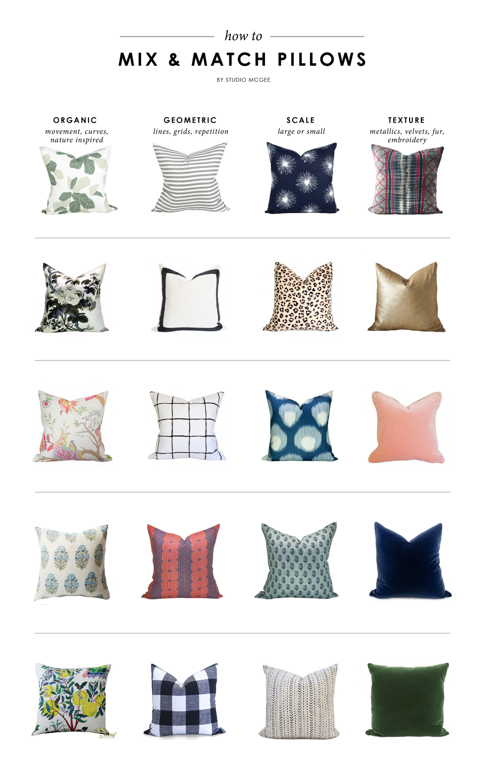 How To Mix & Match Pillows — STUDIO MCGEE