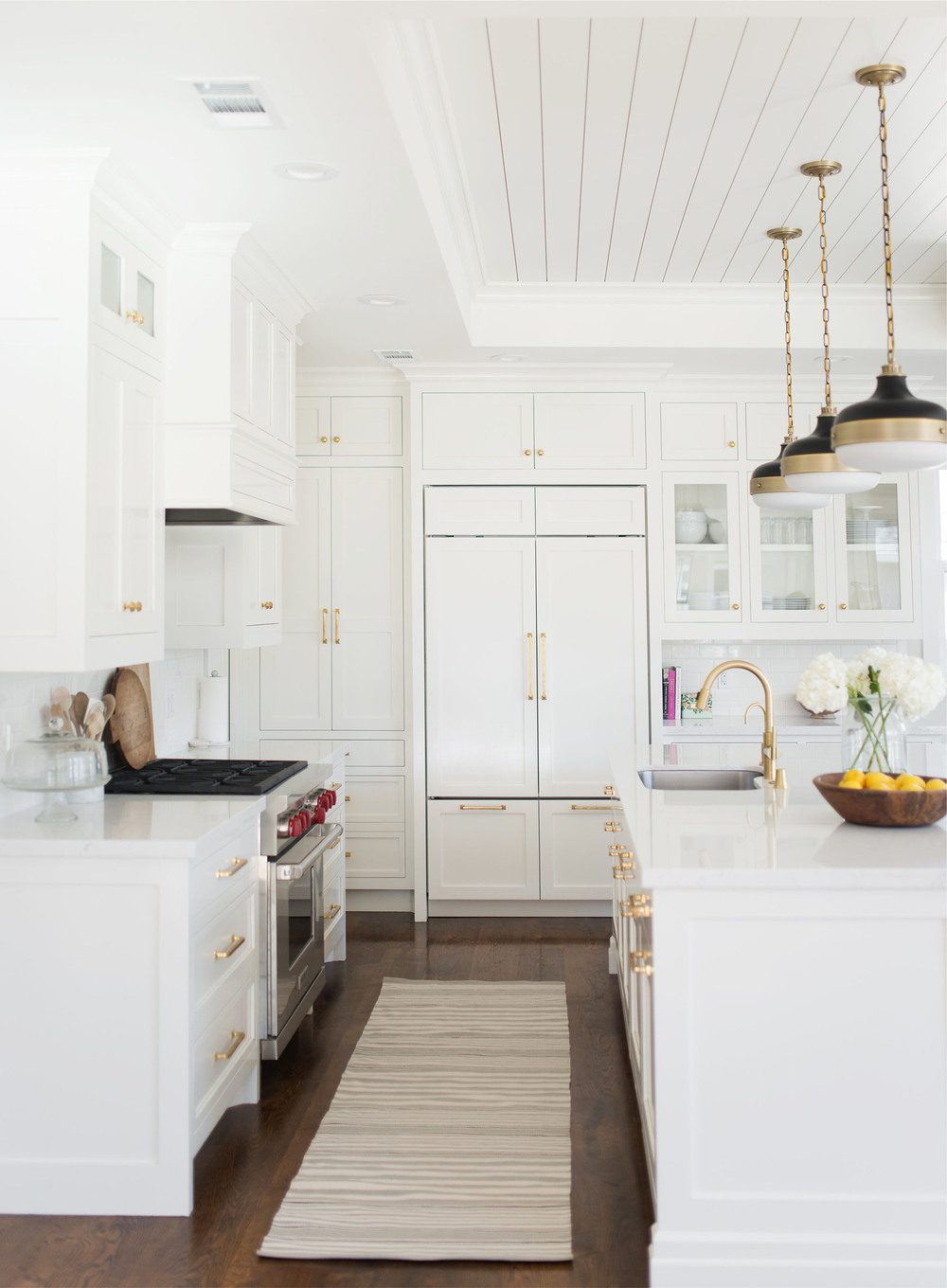 White And Gold Kitchen E Design By Studio McGee