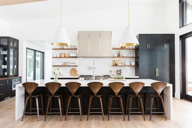 Modern Black Kitchens modern mountain home tour: great room, kitchen, dining — studio mcgee