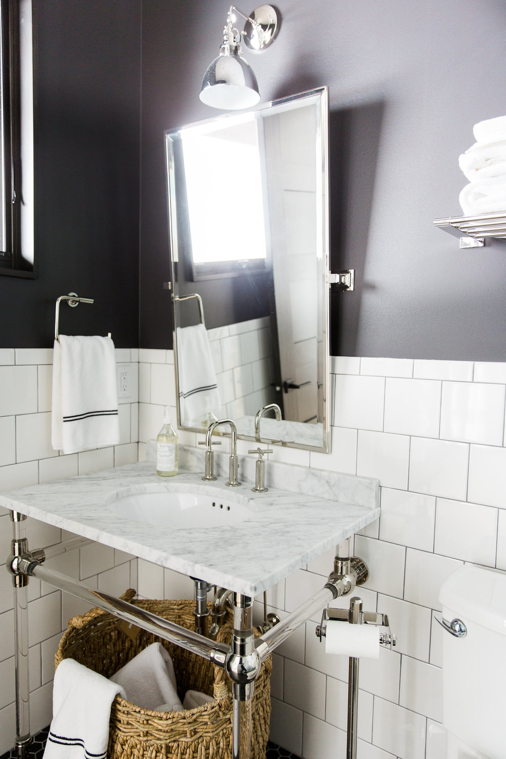 Black and White Bathroom || Studio McGee