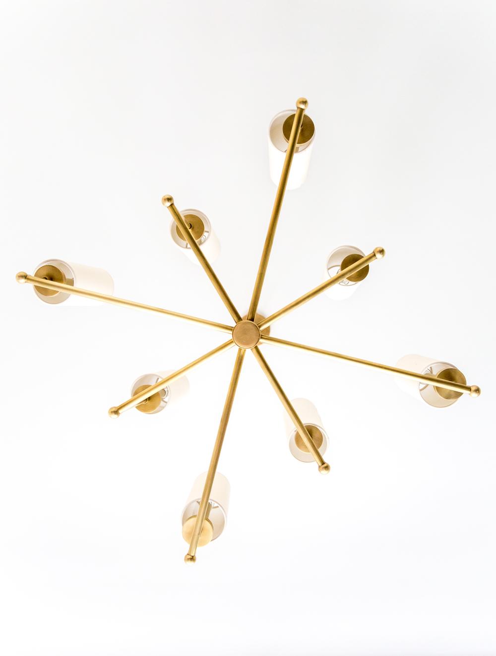 Modern Brass Chandelier || Studio McGee