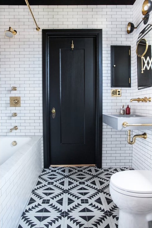 black and white floor tile. Studio McGee  Save Or Splurge Floor Tile Black White STUDIO MCGEE