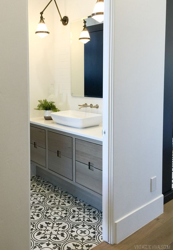 Studio McGee | Save or Splurge: Black & White Floor Tile
